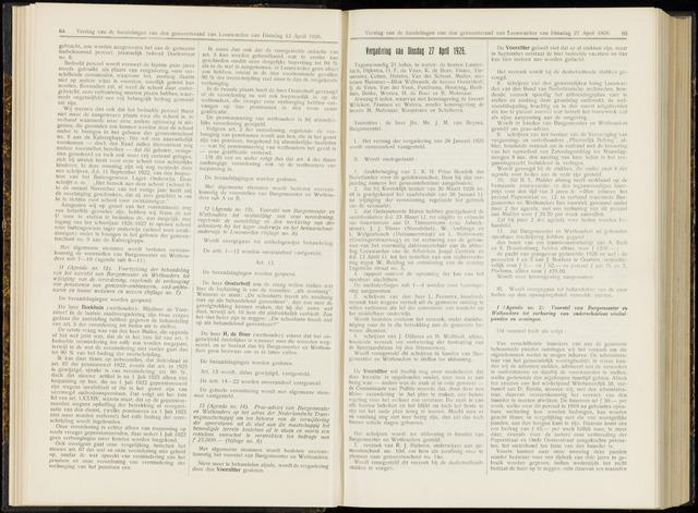 Raadsverslagen van de gemeente Leeuwarden, 1865-2007 (Notulen) 1926-04-27