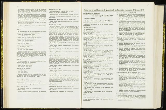 Raadsverslagen van de gemeente Leeuwarden, 1865-2007 (Notulen) 1957-12-30