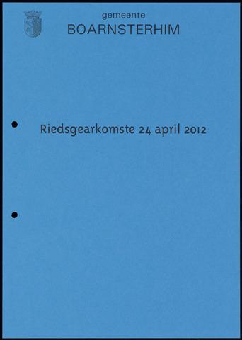 Boarnsterhim vergaderstukken gemeenteraad  2012-04-24