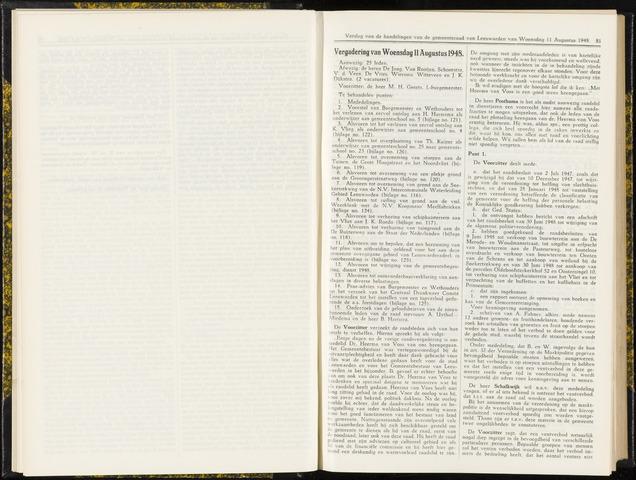 Raadsverslagen van de gemeente Leeuwarden, 1865-2007 (Notulen) 1948-08-11
