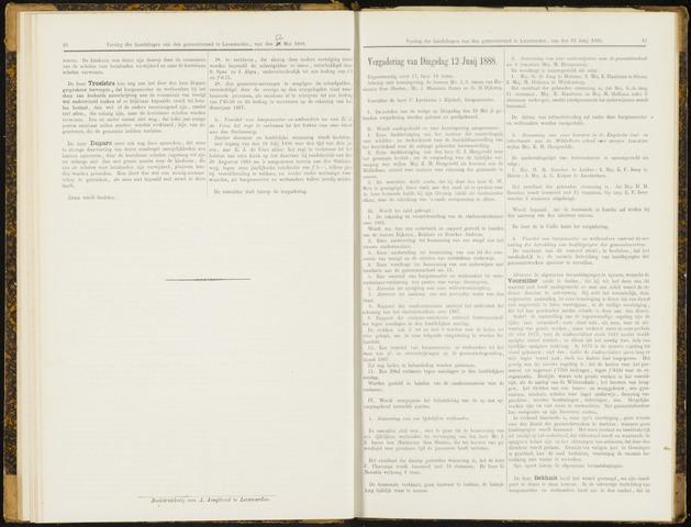 Raadsverslagen van de gemeente Leeuwarden, 1865-2007 (Notulen) 1888-06-12
