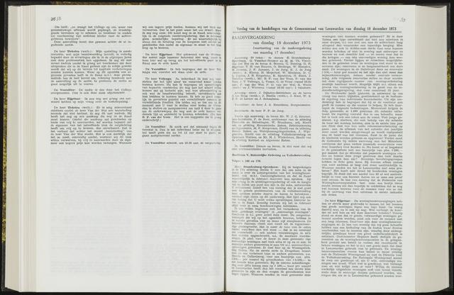 Raadsverslagen van de gemeente Leeuwarden, 1865-2007 (Notulen) 1973-12-18