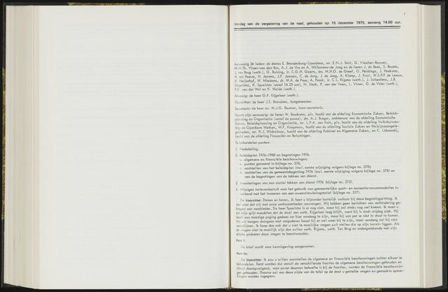 Raadsverslagen van de gemeente Leeuwarden, 1865-2007 (Notulen) 1975-12-15