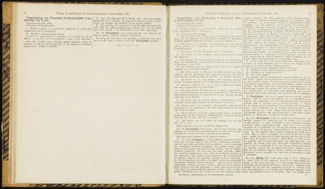 Raadsverslagen van de gemeente Leeuwarden, 1865-2007 (Notulen) 1871-02-09