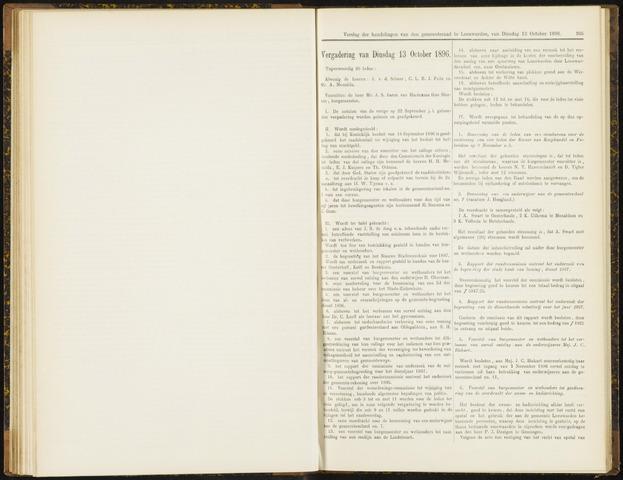 Raadsverslagen van de gemeente Leeuwarden, 1865-2007 (Notulen) 1896-10-13