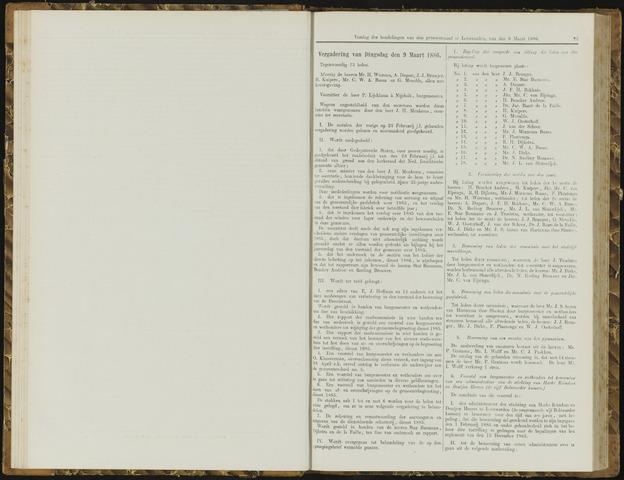 Raadsverslagen van de gemeente Leeuwarden, 1865-2007 (Notulen) 1886-03-09