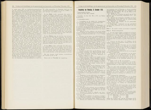 Raadsverslagen van de gemeente Leeuwarden, 1865-2007 (Notulen) 1938-12-28