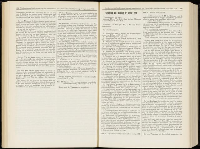 Raadsverslagen van de gemeente Leeuwarden, 1865-2007 (Notulen) 1938-10-12