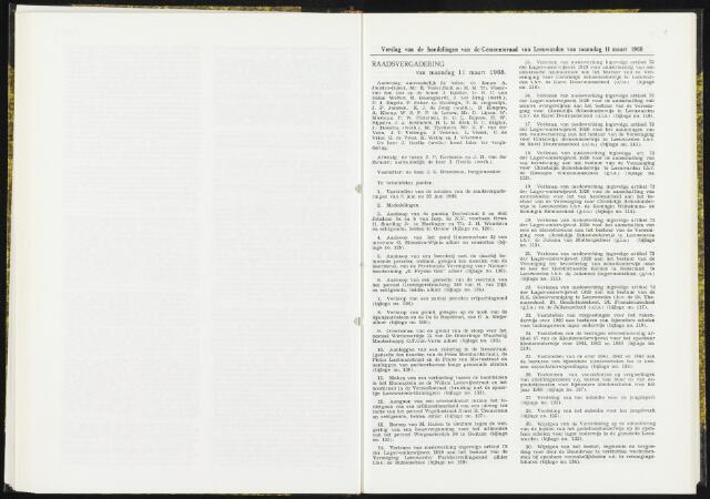 Raadsverslagen van de gemeente Leeuwarden, 1865-2007 (Notulen) 1968-03-11