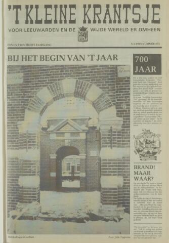 't Kleine Krantsje, 1964-1997 1985-01-05