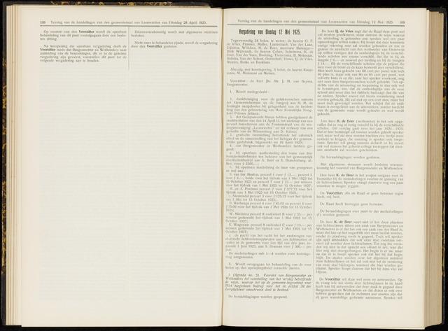 Raadsverslagen van de gemeente Leeuwarden, 1865-2007 (Notulen) 1925-05-12