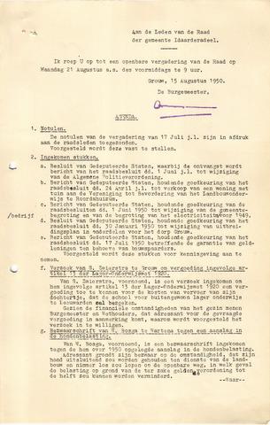 raadsverslagen Idaarderadeel 1935-1983 1950-08-21