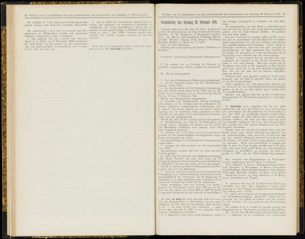 Raadsverslagen van de gemeente Leeuwarden, 1865-2007 (Notulen) 1911-02-28