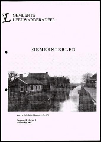 Notulen van de gemeenteraad van Leeuwarderadeel 2003-12-11