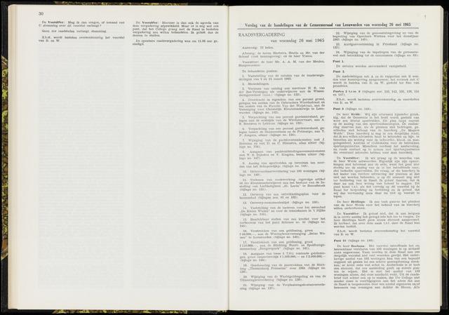 Raadsverslagen van de gemeente Leeuwarden, 1865-2007 (Notulen) 1965-05-26