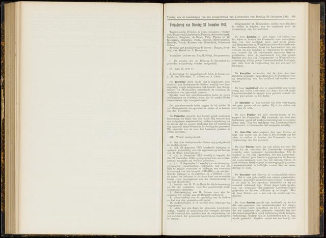 Raadsverslagen van de gemeente Leeuwarden, 1865-2007 (Notulen) 1913-12-23