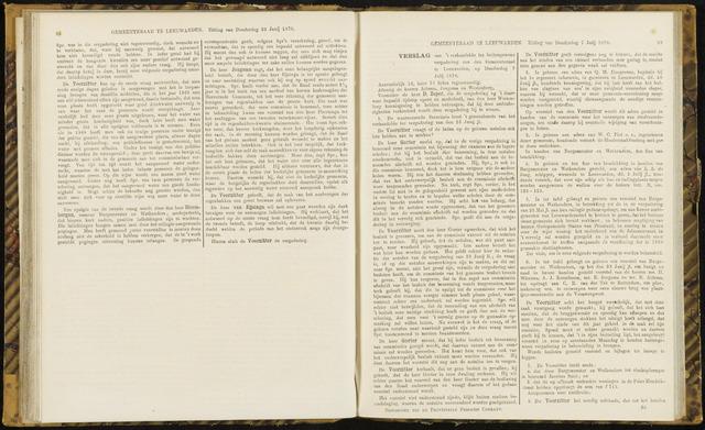 Raadsverslagen van de gemeente Leeuwarden, 1865-2007 (Notulen) 1870-07-07