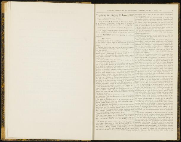 Raadsverslagen van de gemeente Leeuwarden, 1865-2007 (Notulen) 1887