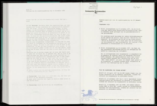 Raadsverslagen van de gemeente Leeuwarden, 1865-2007 (Bijlagen) 1998-01-01
