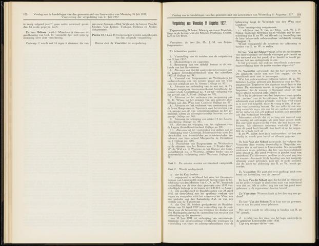 Raadsverslagen van de gemeente Leeuwarden, 1865-2007 (Notulen) 1937-08-11