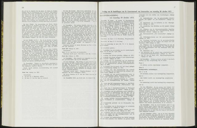 Raadsverslagen van de gemeente Leeuwarden, 1865-2007 (Notulen) 1972-10-30