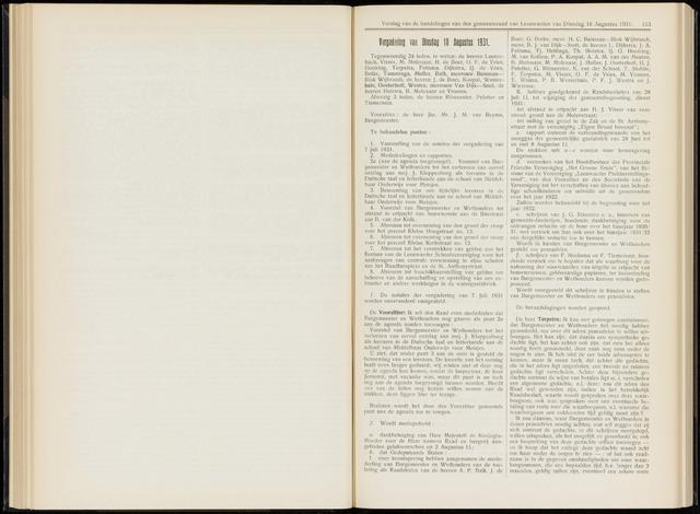 Raadsverslagen van de gemeente Leeuwarden, 1865-2007 (Notulen) 1931-08-18