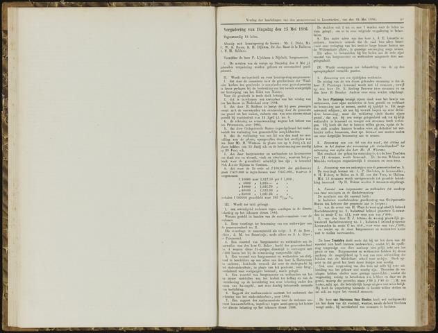 Raadsverslagen van de gemeente Leeuwarden, 1865-2007 (Notulen) 1886-05-25