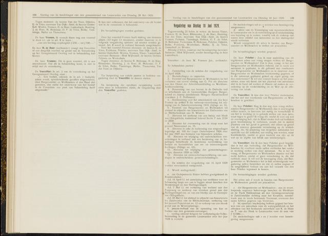 Raadsverslagen van de gemeente Leeuwarden, 1865-2007 (Notulen) 1929-06-18