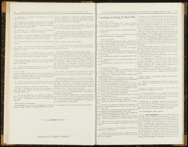 Raadsverslagen van de gemeente Leeuwarden, 1865-2007 (Notulen) 1894-03-27