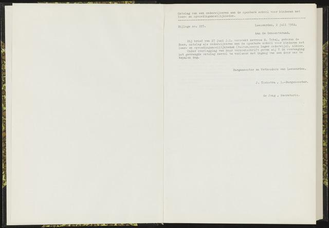 Raadsverslagen van de gemeente Leeuwarden, 1865-2007 (Bijlagen) 1964-01-01