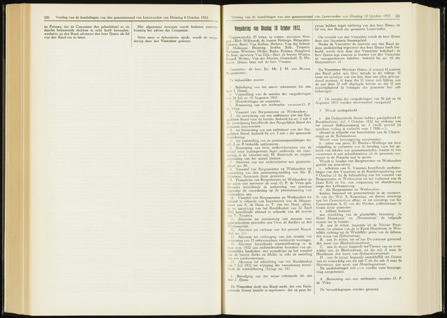 Raadsverslagen van de gemeente Leeuwarden, 1865-2007 (Notulen) 1932-10-18