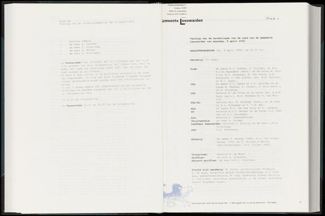 Raadsverslagen van de gemeente Leeuwarden, 1865-2007 (Notulen) 2002-04-08