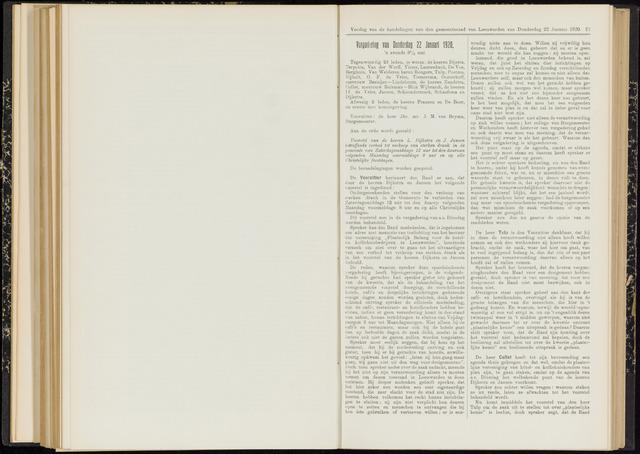 Raadsverslagen van de gemeente Leeuwarden, 1865-2007 (Notulen) 1920-01-22
