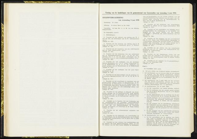 Raadsverslagen van de gemeente Leeuwarden, 1865-2007 (Notulen) 1958-06-04