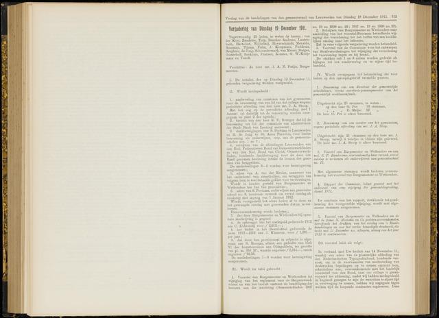 Raadsverslagen van de gemeente Leeuwarden, 1865-2007 (Notulen) 1911-12-19