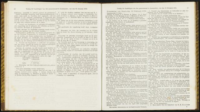 Raadsverslagen van de gemeente Leeuwarden, 1865-2007 (Notulen) 1879-02-13