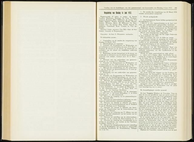Raadsverslagen van de gemeente Leeuwarden, 1865-2007 (Notulen) 1932-06-14