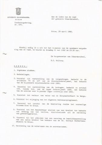 raadsverslagen Idaarderadeel 1935-1983 1982-05-11