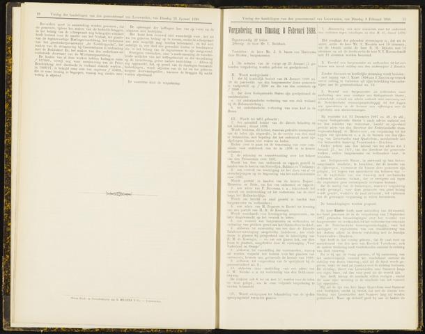 Raadsverslagen van de gemeente Leeuwarden, 1865-2007 (Notulen) 1898-02-08