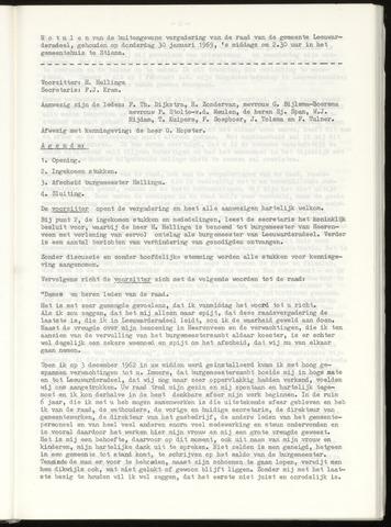 Notulen van de gemeenteraad van Leeuwarderadeel 1969-01-30