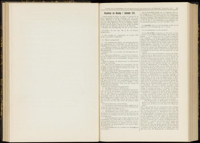 Raadsverslagen van de gemeente Leeuwarden, 1865-2007 (Notulen) 1925-09-07