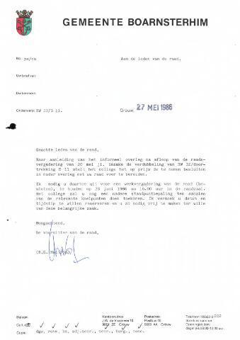 Boarnsterhim vergaderstukken gemeenteraad  1986-06-23
