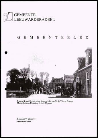 Notulen van de gemeenteraad van Leeuwarderadeel 2004-12-23
