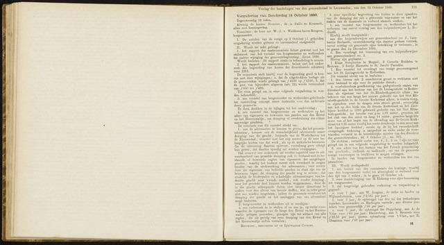 Raadsverslagen van de gemeente Leeuwarden, 1865-2007 (Notulen) 1880-10-14