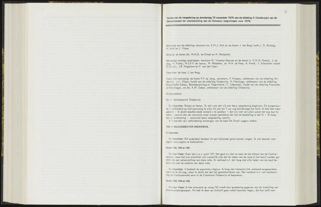 Raadsverslagen van de gemeente Leeuwarden, 1865-2007 (Notulen) 1975-11-13