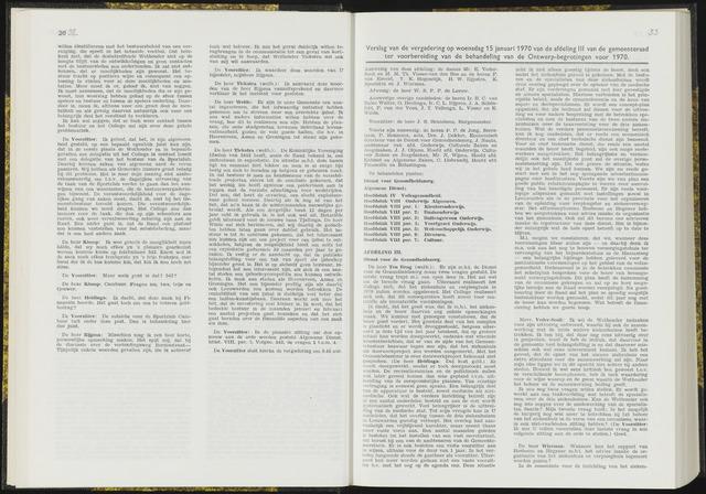 Raadsverslagen van de gemeente Leeuwarden, 1865-2007 (Notulen) 1970-01-15