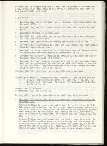 Notulen van de gemeenteraad van Leeuwarderadeel 1970-05-28