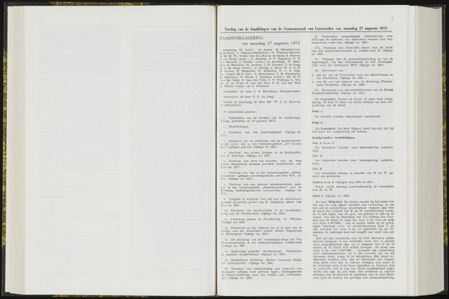 Raadsverslagen van de gemeente Leeuwarden, 1865-2007 (Notulen) 1973-08-27