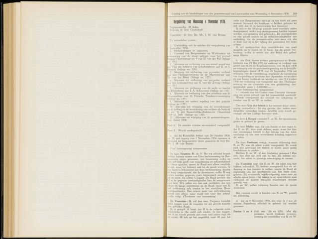 Raadsverslagen van de gemeente Leeuwarden, 1865-2007 (Notulen) 1936-11-04