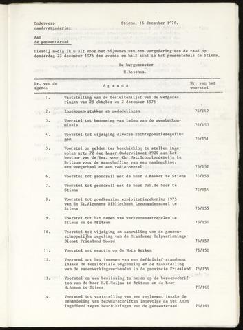 Notulen van de gemeenteraad van Leeuwarderadeel 1976-12-23